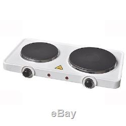 2500w 2.5kw Portable Electric Twin Dual Double Hot Plate Table Top Hotplate