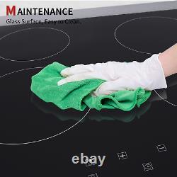 30cm/59cm/60cm/77cm 2/3/4/5 Zones Electric Ceramic Hob, Black, Touch Control UK