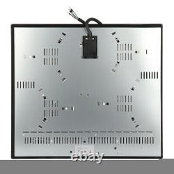 57Cm Ceramic Hob with Electricity 4 Cooking Zones Touch Controls & Black Built-In