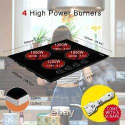 6000W 60cm Ceramic Hob Black Electric Built-in 4 Burners Ceramic Cooker Hobs