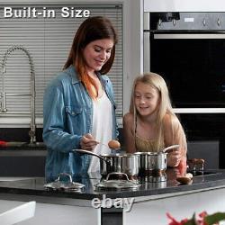 6000W Ceramic Hob Electric Built-in 4 Burners 60cm Ceramic Cooker Hobs Black