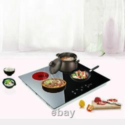 60cm 4 Zone Electric Ceramic Hob 6000W, Black Satin Glass, Touch Control New