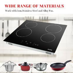 60cm Ceramic Hob in Black, Built-in worktop & Touch Controls AUCMA AU8340-202 UK
