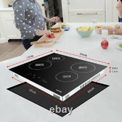 60cm Electric Ceramic Hob AUCMA, Black, Electric, Touch Controls built in