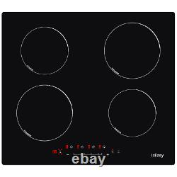 60cm Induction Hob IsEasy, Black, Built-in, Electric, Touch Control, 4 Zone 6000W