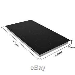 8600W Touch Control 5 Zone Electric Ceramic Hob Glass induction cook Kitchen