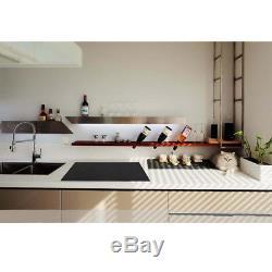 90cm 5 Zone Electric Ceramic Hob Frameless Touch Control Cooking Black 220-240V