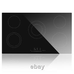 90cm Ceramic Hob Cookology, DTL-8600W, Black, Built-in, Electric, Touch Controls UK