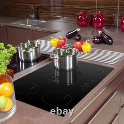 90cm Induction Hob Cookology, Black, Built-in, Electric, Touch Controls, five Zones
