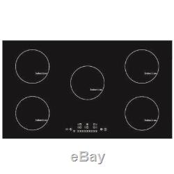 9300W 90cm 5 Zone Touch Control Electric Induction Hob in Black Cooker Tools