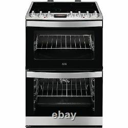 AEG CCB6740ACM 60cm Double Oven Electric Cooker With Ceram