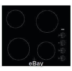 AEG HK614000CB 59cm 4 Zone Ceramic Hob Black HA2531