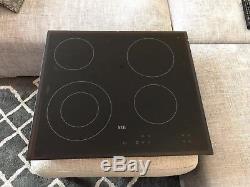 AEG HK624010FB 59cm 4 Zone Touch Control Ceramic Electric Hob-Black