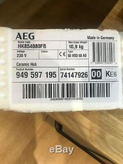 AEG HK854080FB 80cm Touch Control Ceramic Hob in Black Glass HK854080FB (Used)