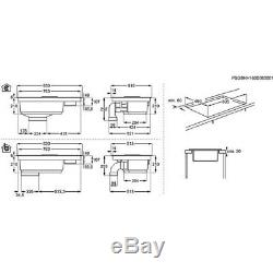 AEG IDE84242IB Induction Hob with Ducted Downdraft Hood HA2304