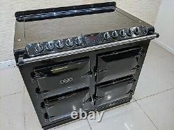 Aga Six Four All Electric Ceramic Hob Range Cooker In Black A560