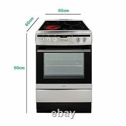 Amica 608CE2TAXX 60cm Single Fan Oven Electric Cooker with Ceramic Hob Stainle