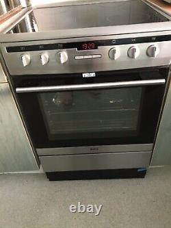 Amica 608CE2TAXX 60cm Standing Electric Cooker with Ceramic Hob