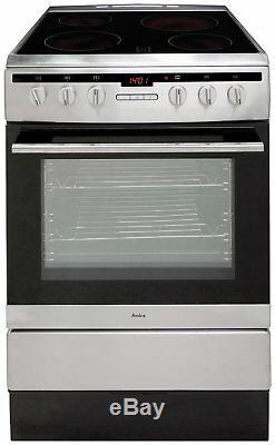 Amica 608CE2TAXX Free Standing 60cm 4 Hob Single Electric Cooker S/Steel