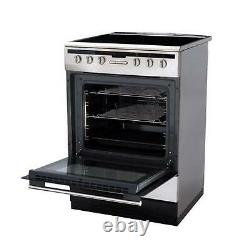 Amica 608CE2TAXX Stainless Steel 60cm Single Electric Cooker With Ceramic Hob