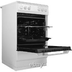 Amica AFC1530WH 50cm Four Zone Ceramic Hob Electric Cooker White