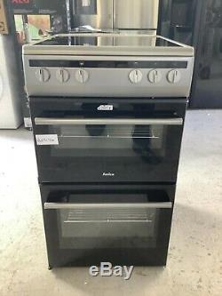Amica AFC5100SI 50cm Double Cavity Electric Cooker With Ceramic Hob #RW17194