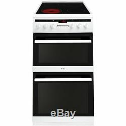 Amica AFC5550WH Free Standing A/A Electric Cooker with Ceramic Hob 50cm White
