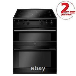 Amica AFC6520BL 60cm Freestanding Double Electric Oven Cooker With Ceramic Hob