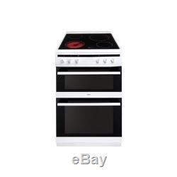 Amica AFC6520WH 60cm Electric Double Oven Cooker With Ceramic Hob White