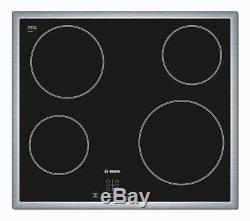 BOSCH PKE645D17E Electric Ceramic Hob Black 1