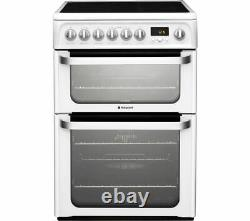 BRAND NEW Hotpoint HUE61PS 60cm Electric Cooker Double Ovens, Grill & Hob