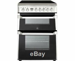 BRAND NEW Indesit ID60C2XS 60cm Electric Cooker Double Ovens & Ceramic Hob