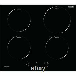 Baumatic BHII6015 59cm 4 Burners Induction Hob Touch Control Black