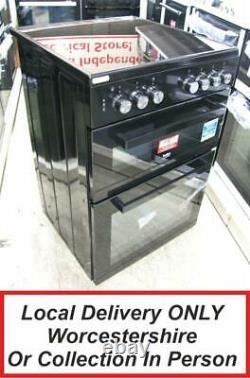 Beko ADC6M13K Black Electric Cooker Double Oven Ceramic Hobs 60cm ADC6M13 PEC