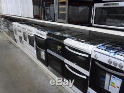 Beko BDVC674MS Silver Mirrored Electric Cooker Double Oven Ceramic Hobs 60cm PEC