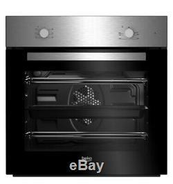 Beko BQE222X Stainless steel Single Multifunction Oven & ceramic hob pack NISSAN