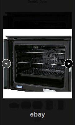 Beko EDC633K 60cm Double Oven Electric Cooker with Ceramic Hob Black