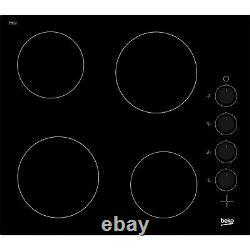 Beko HIC64102 58cm 4 Zone Ceramic Hob With Rotary Controls