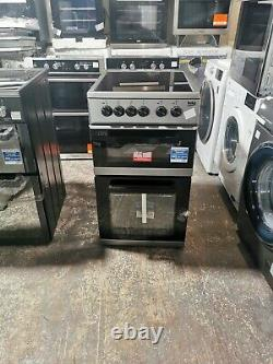Beko KDC5422AS Free Standing A Electric Cooker with Ceramic Hob 50cm Silver #67