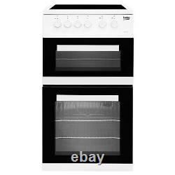 Beko KDC5422AW 50cm Twin Cavity Electric Cooker with Ceramic Hob White