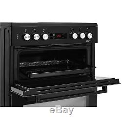 Beko KDC653K 60cm Double Oven Electric Cooker With Ceramic Hob Black KDC653K