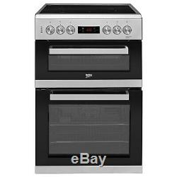 Beko KDC653S 60cm Double Oven Electric Cooker With Ceramic Hob And Progr KDC653S