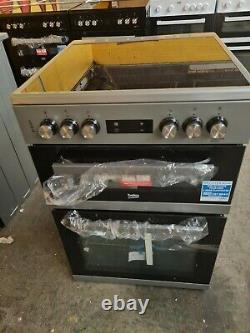 Beko KDC653S 60cm Double Oven Electric Cooker with Ceramic Hob Silver