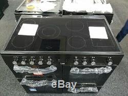 Beko KDVC100K 100cm Electric Range Cooker with Ceramic Hob Black