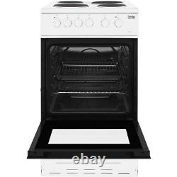 Beko KS530W 50cm Single Oven Electric Cooker With Sealed Plate Hob White