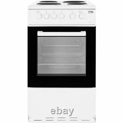 Beko KS530W Free Standing A Electric Cooker with Solid Plate Hob 50cm White New