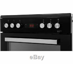 Beko XDC653K 60cm Electric Cooker Double Oven With Grill & Ceramic Hob Black