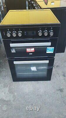 Beko XDC653K Black Electric Cooker Double Oven Ceramic Hobs 60cm XDC653 PEC
