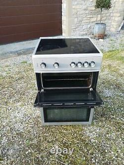 Beko XTC611 60cm Electric Cooker Double Cavity ceramic hob grill Silver