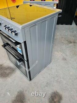 Beko XTC611S Dark Silver Electric Cooker Twin Cavity Ceramic Hob 60cm XTC611 PEC